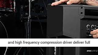 Alesis Strike Amp 12 2000 Watt Ultra Portable Powered Drum Speaker Amplifier With 12 Inch Woofer,
