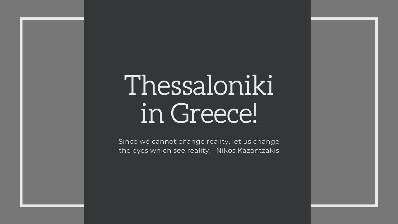 Thessaloniki Travel Trip - October 2020