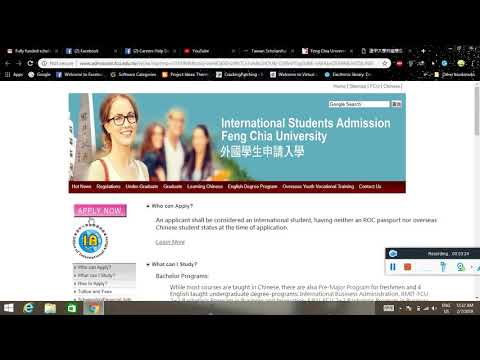 Taiwan Scholarship 2019 for Feng Chia University