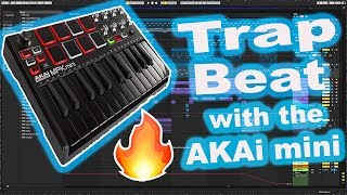 Making a Trap beat with akai mpk mini mk2 | Making a southside type beat