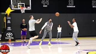 Anthony Davis vs Rajon Rondo 1 on 1 Game. Lakers Practice. HoopJab NBA