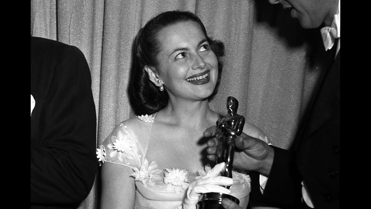 Olivia De Havilland Wins Best Actress 1950 Oscars