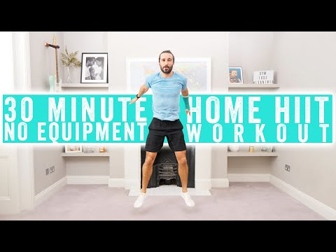 30 Minute No Equipment Home HIIT Workout | The Body Coach TV