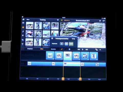 06 Avid Studio iPad Fotos skalieren und Diaschaus mit Videos ergänzen