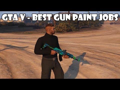 GTA V - Gunrunning DLC | Best Gun Paint Jobs