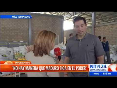 """""""Si se quiere quedar, va a tener que sufrir las consecuencias"""": Rubio a Maduro"""
