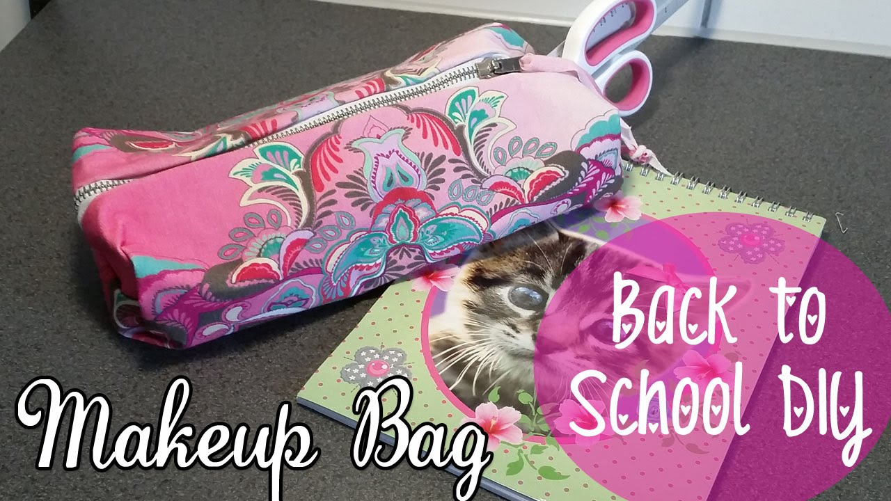 Beroemd ♥ DIY Back To School ♥ MAKE-UP Tasje of Etui Zonder te Naaien #SX54