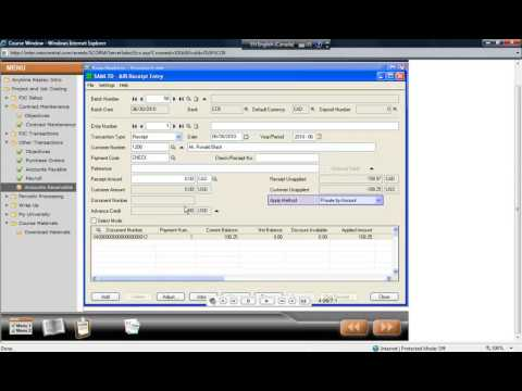 Accpac 124    Feature   v54   PJC   Other Transactions   Accounts Receivable