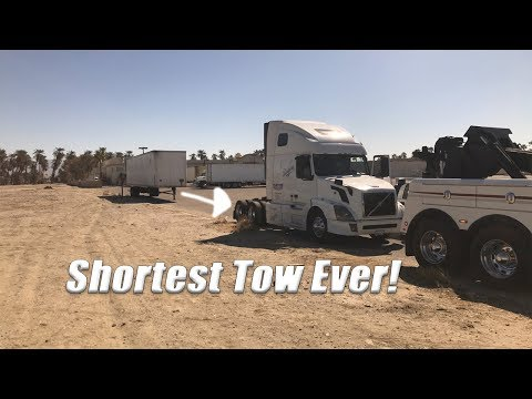 Shortest Semi Tow Ever!
