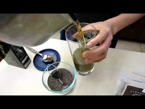How to Prepare Chia Seeds drink with Chinese Sweet Tea - low cholesterol high fiber and omega 3