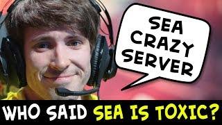 Who said SEA is TOXIC? Dendi proves most friendly server