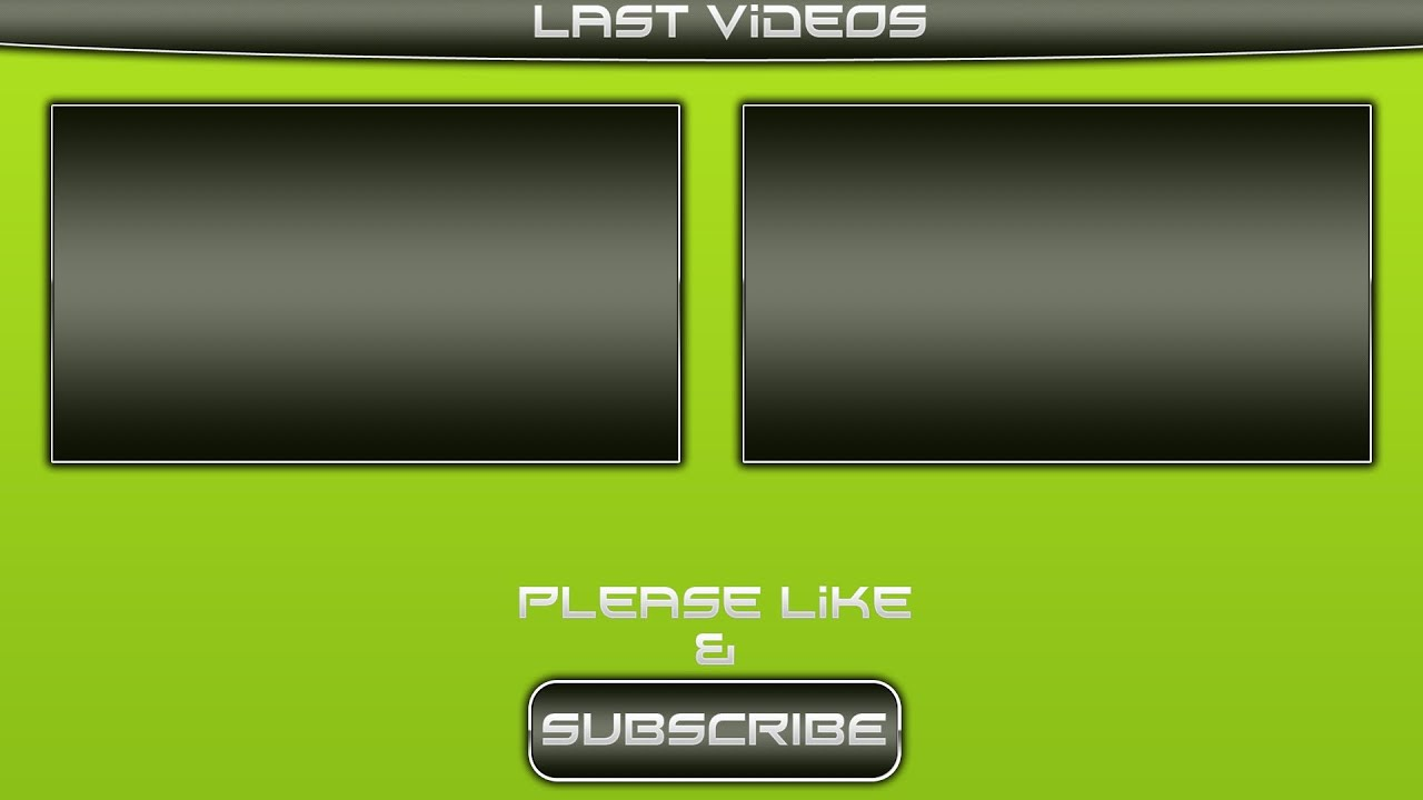 Free green outro video youtube for Outro image
