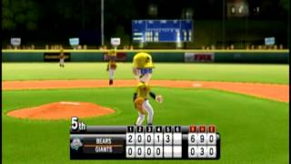 Little League® World Series Baseball 2009 (Nintendo Wii) - Tounament Mode - Game 1 - Part 2