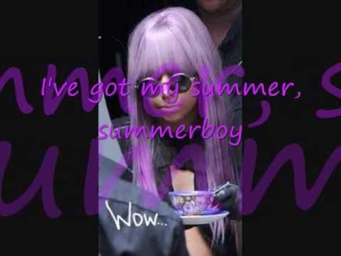 Lady Gaga Summerboy Lyrics