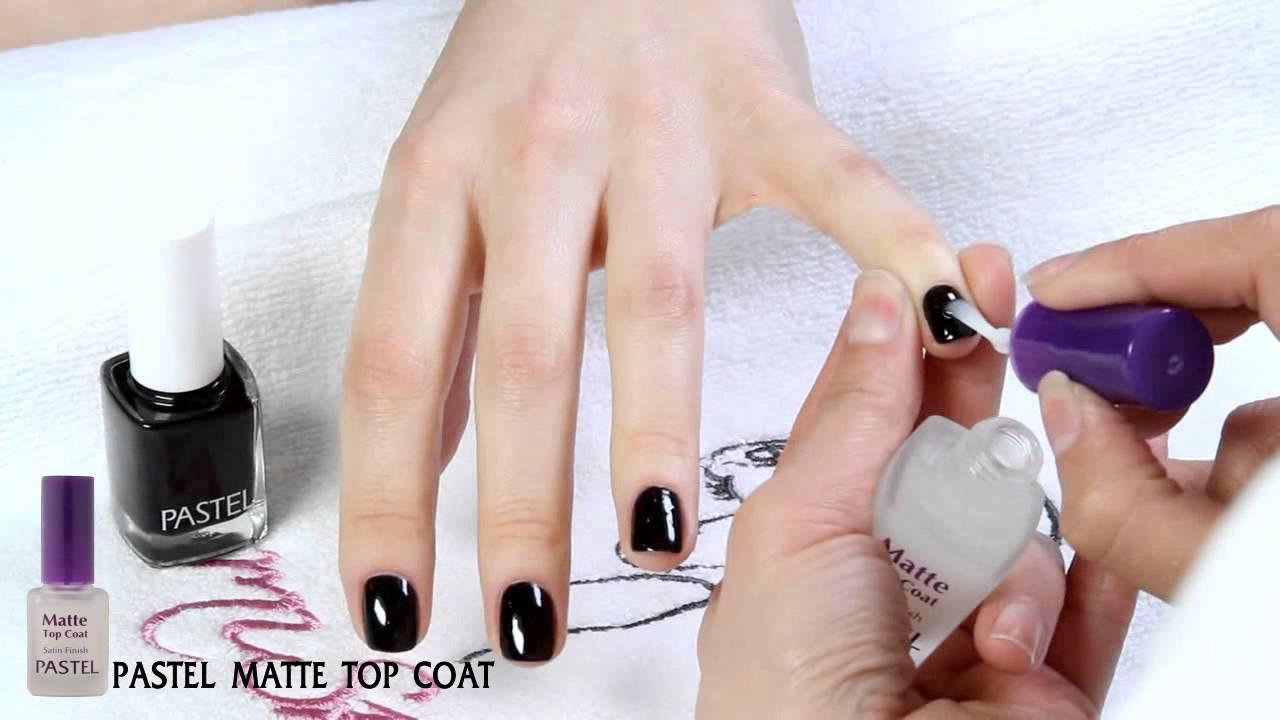 pastel nail art- matte top coat