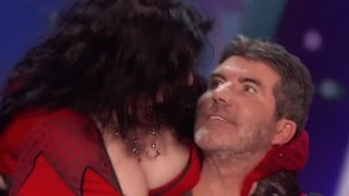 SHOCKING! Women Seduces And KISSES Simon!!!