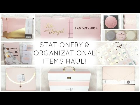 Stationery & Organizational Items Haul ♡ Target, HomeGoods, Marshalls, Michael's, & Nordstrom