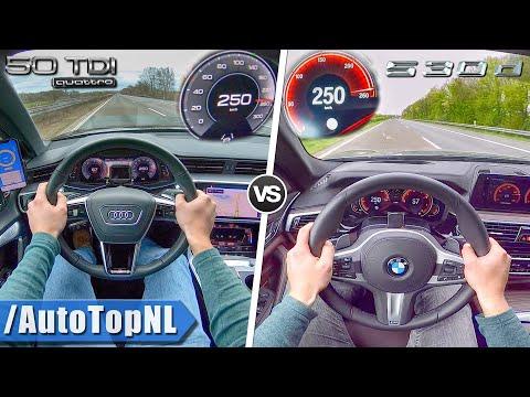 AUDI A6 2019 Vs BMW 5 Series 2019 | 50 TDI Vs 530d | 0-250km/h ACCELERATION By AutoTopNL