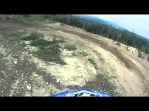 Eric Duckett Riding on the track at Horsepower Acres