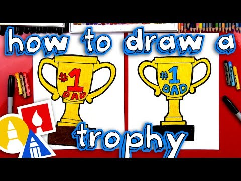How To Draw A Trophy For Father's Day