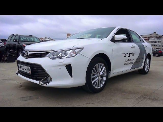 2015 Toyota Camry 2.5. Обзор (интерьер, экстерьер, двигатель).
