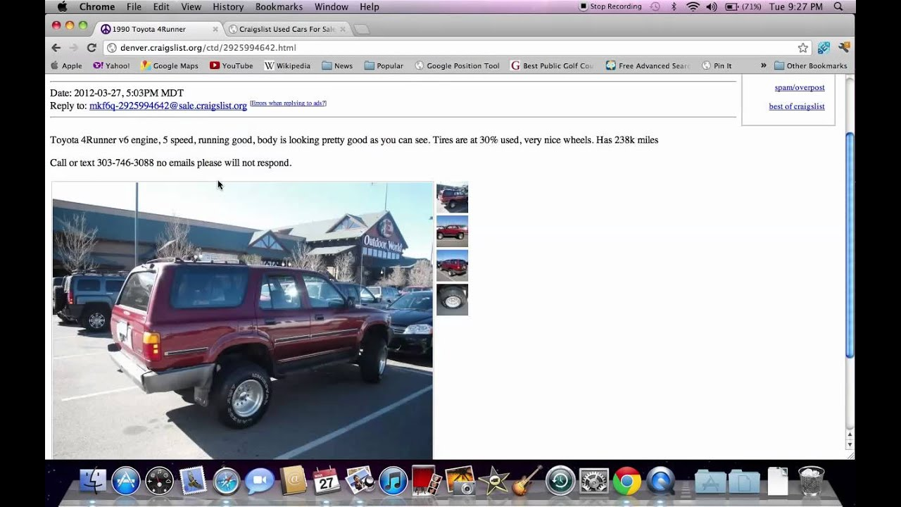 Craigslist Denver Used Cars Online Toyota Trucks And