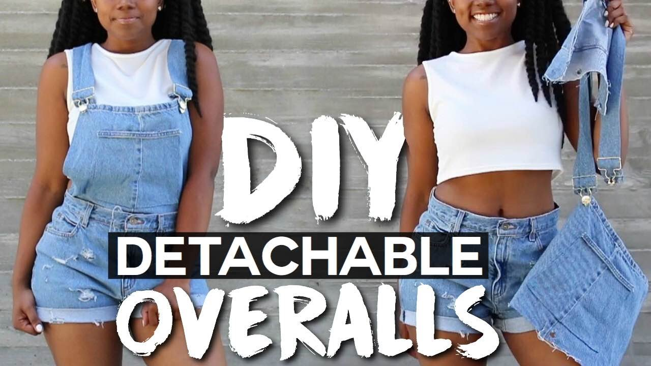DIY Detachable Overalls/Dungarees - YouTube