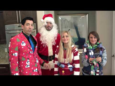 Christmas Crafts Competition With Drew, Jonathan, iJustine and Jenna