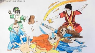How To Draw Five Characters from Avatar TLA (Step by step)