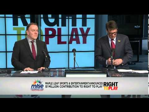 Johann Olav Koss discusses Right To Play - March 27, 2013