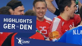 Highlights | Germany vs Denmark | Men's EHF EURO 2018
