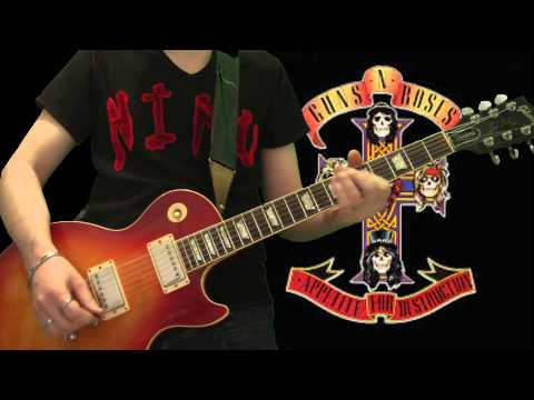Guns N' Roses – Welcome To The Jungle (full guitar cover)