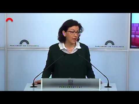 Conferència de premsa d'Eva Granados al Parlament de Catalunya 13.04