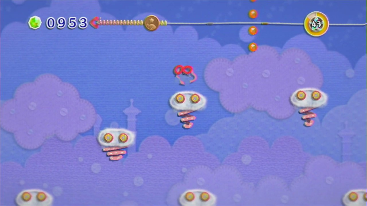 Cloud Palace | Kirby's Epic Yarn 100% Walkthrough