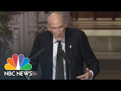 Former Senate Alan Simpson Wins Laughs And Recalls Bush As One Of 'Nature's Noble Men' | NBC News
