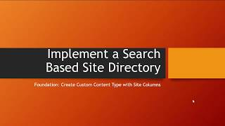 Search Based Site Directory: Part 1