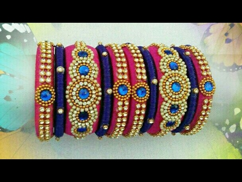 jewellery feelings silk bangles blue royal craft thread