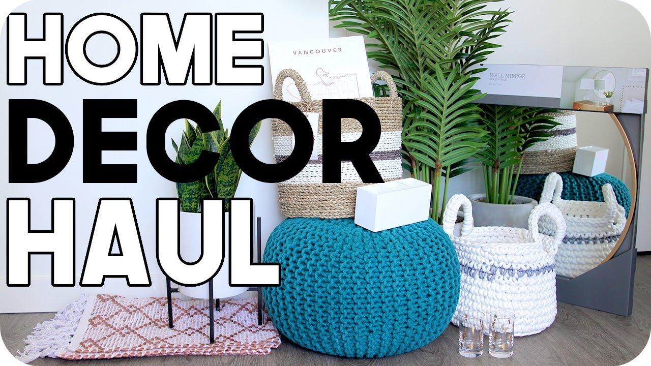 Home Decor Haul Home Decor Ideas for Cheap YouTube
