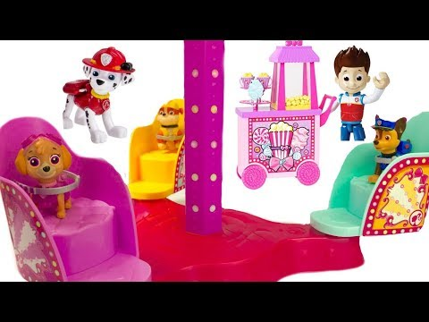 Best Learning Colors Video with Paw Patrol Carnival Amusement ParK Rides | Fizzy Fun Toys