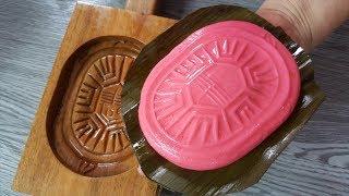 【1mintips】原來這就是金包銀!! 大吉大利甜點,紅龜粿原來這樣做!! 喝茶配咖啡,美味不輸西點!!