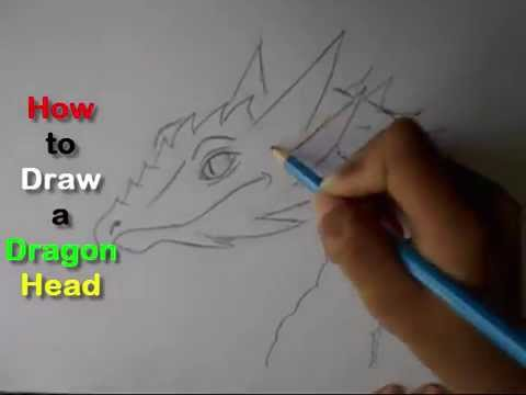 How To Draw A Dragon Head Easy