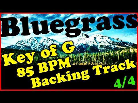 Bluegrass Backing Track in G major - 85 BPM Extended Chords Jam Track   Mandolin   Banjo   Fiddle
