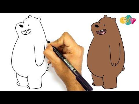رسم شهاب الدب من كارتون الدببة الثلاثة كيف ترسم الدب شهاب