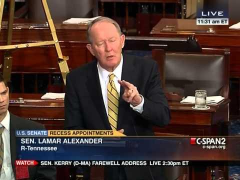 Sen. Lamar Alexander of TN on Senate Floor