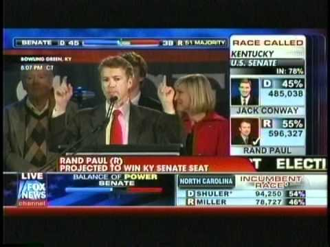Rand Paul wins Kentucky Midterm Election 2010