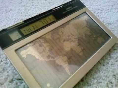 Seiko Touch Screen World Clock (Gold Map Solar)