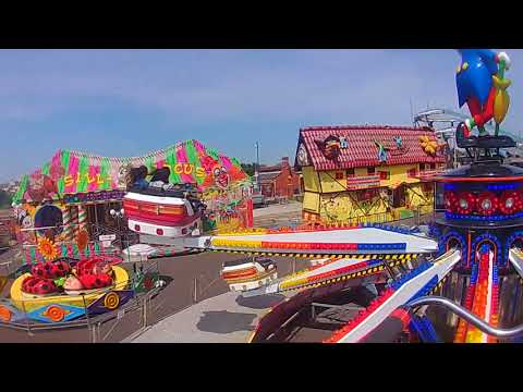 Jump and Smile ride Barry island Fairground (action cam view)