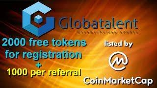 Globatalent (AIRDROP) - 2000 GBT за регистрацию. Заработок криптовалюты.