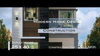 Modern Duplex House Design In India   25×40 Home Design   House Under 20 Lakhs