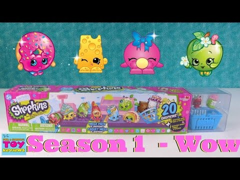 Shopkins Season 1 Mega 20 Pack Opening...